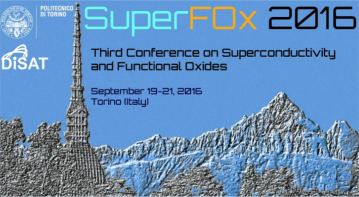 SuperFOX 2016 – 3rd Conference on Superconductivity and Functional Oxides